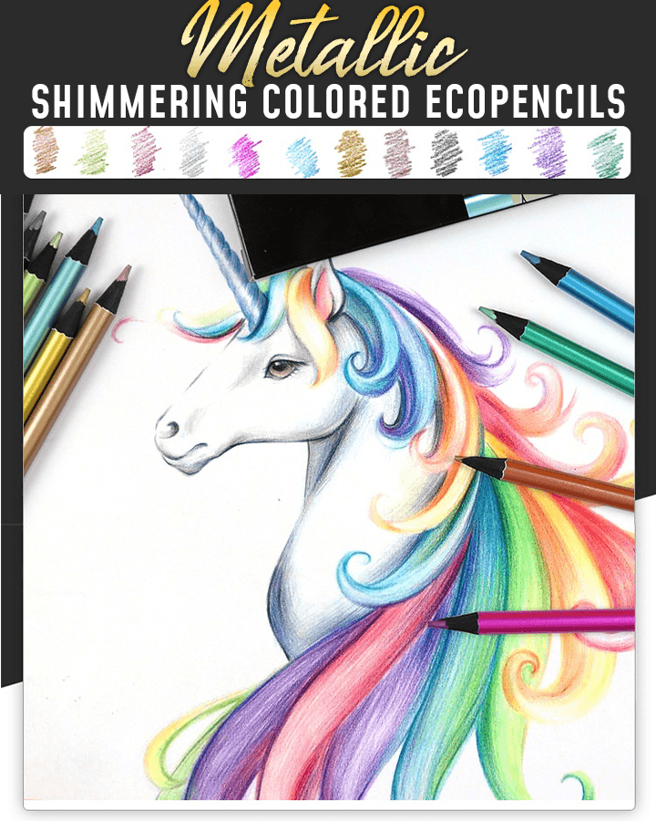 Metallic Shimmering Colored EcoPencils