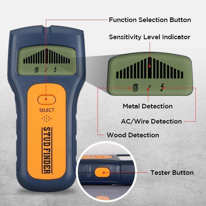 Multifunctional Studs Wall Detector