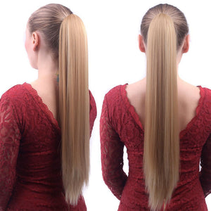 Clip-On Straight Ponytail Wig