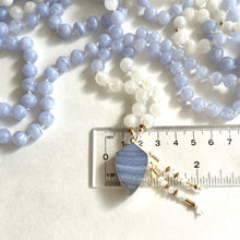 Load image into Gallery viewer, Blue Lace Agate & Moonstone Mala Necklace