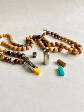 Load image into Gallery viewer, Aroma Coffee Agate Mala Necklace