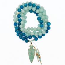 Load image into Gallery viewer, Amazonite & Apatite Mala Necklace