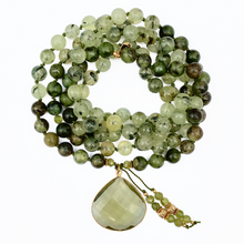 Load image into Gallery viewer, Rainforest Jasper & Prehnite Mala Necklace