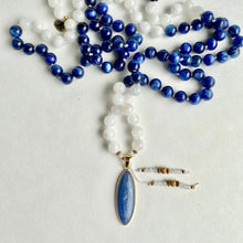 Load image into Gallery viewer, Kyanite & Moonstone Mala Necklace
