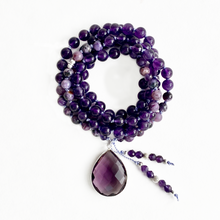 Load image into Gallery viewer, Amethyst & Charoite Mala Necklace