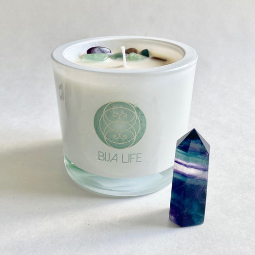 Fluorite Crystal Candle