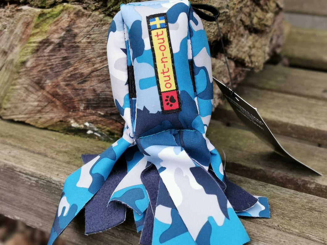Cookie Squid® Softshell neon Hundespielzeug camo blau