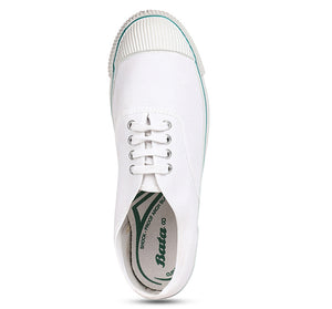 Bata White Tennis Canvas Shoes For Kids