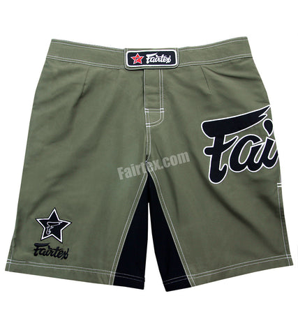 Fairtex MMA Board Shorts -Olive Green Shorts
