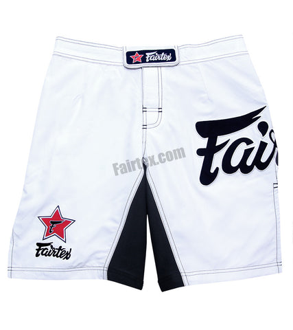 Fairtex MMA Board Shorts - White