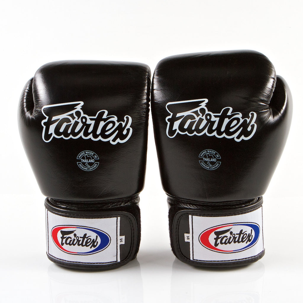 Tight Fit Universal Muay Thai/Boxing Gloves - Black
