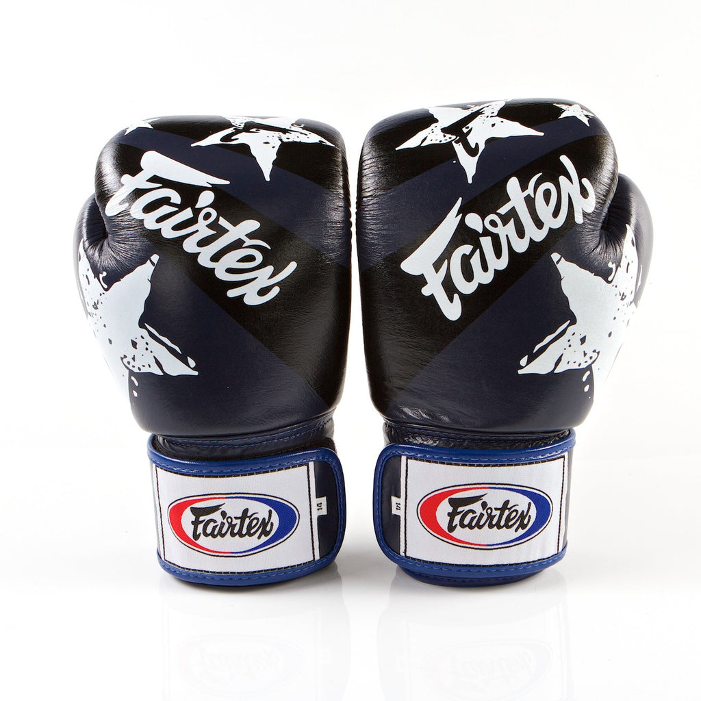 Nation Prints Universal Muay Thai/Boxing Gloves - Blue