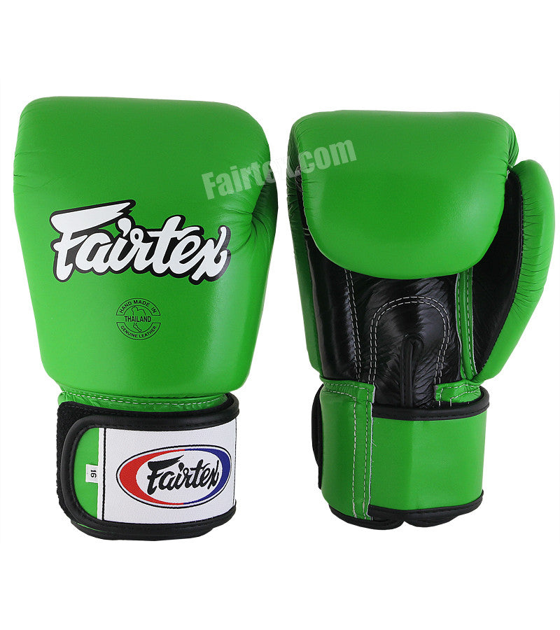 """GREEN HULK"" Muay Thai/Boxing Gloves - Green/Black/Black"