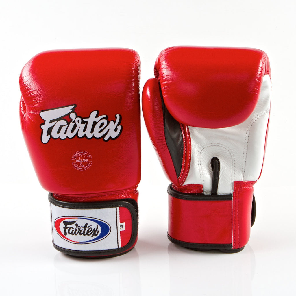 Tight Fit Universal Muay Thai/Boxing Gloves - Red/White/Black