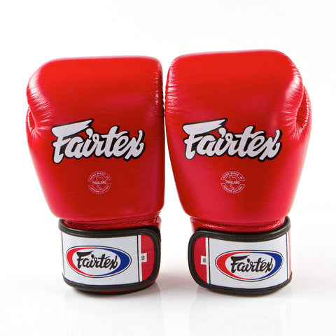 Tight Fit Universal Muay Thai/Boxing Gloves - Red