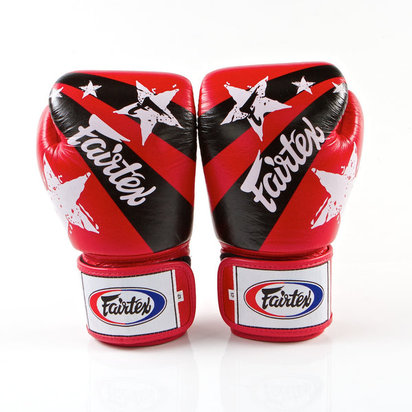 Nation Prints Universal Muay Thai/Boxing Gloves - Red