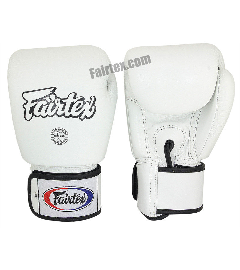 Tight Fit Universal Muay Thai/Boxing Gloves - White