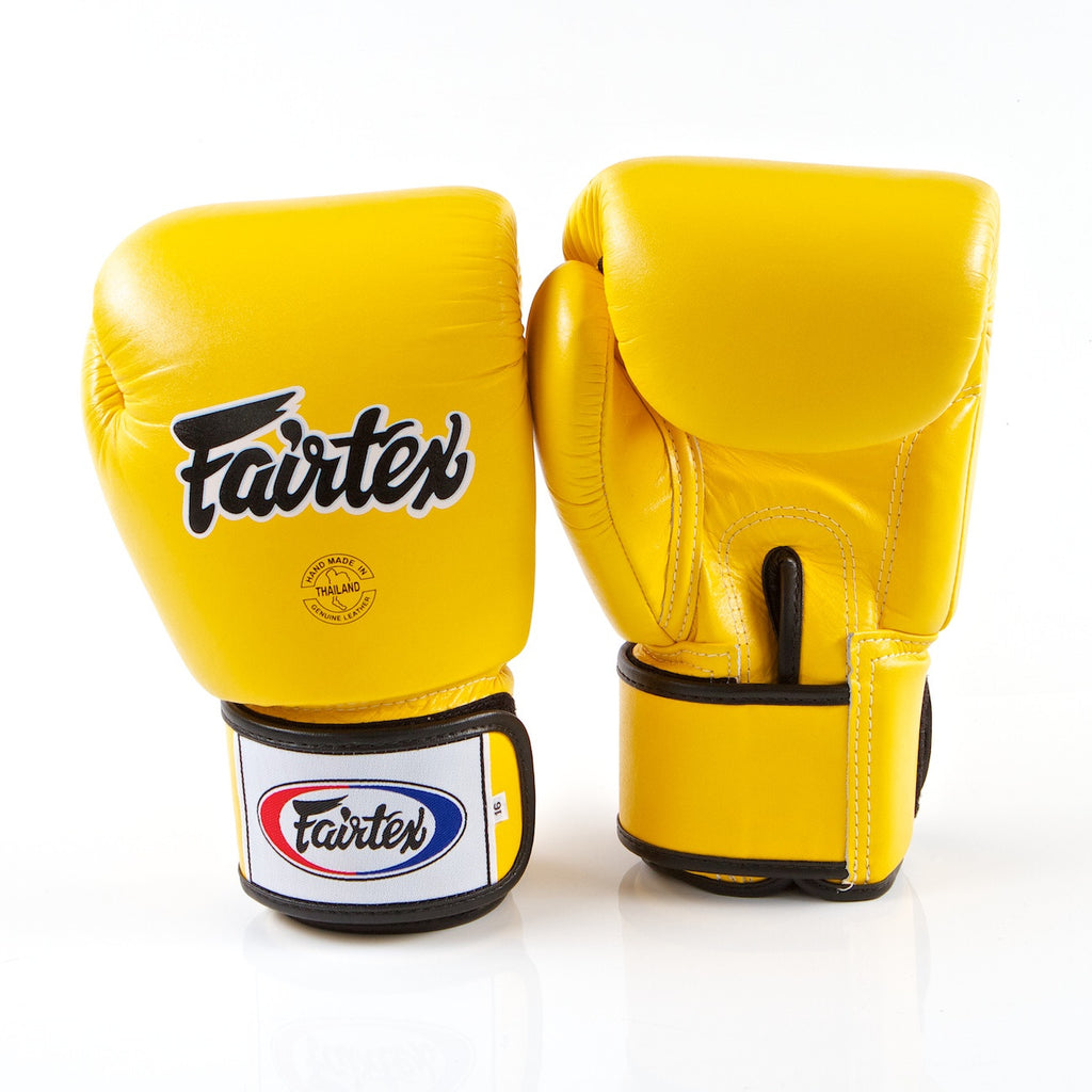 Tight Fit Universal Muay Thai/Boxing Gloves - Yellow