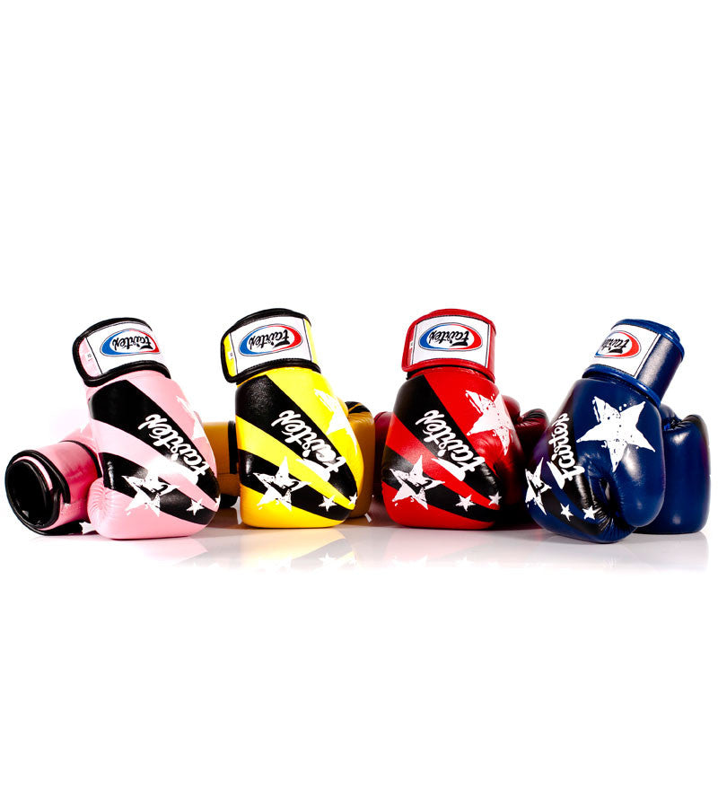 Nation Prints Universal Muay Thai/Boxing Gloves - White