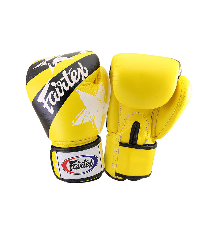 Nation Prints Universal Muay Thai/Boxing Gloves - Yellow