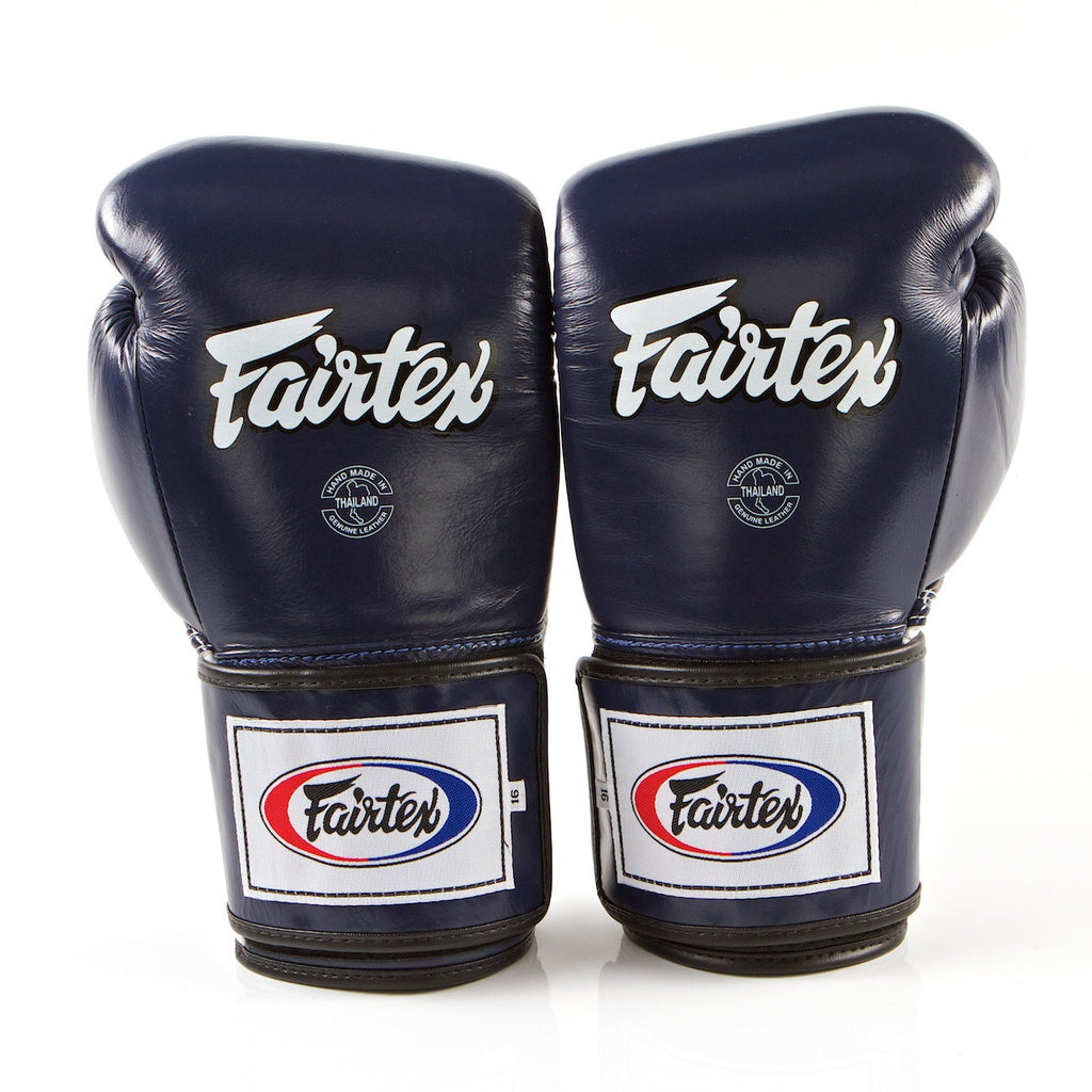 Pro Sparring Boxing Gloves - Blue/White/Black