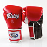 Pro Sparring Boxing Gloves - Red/Black/White