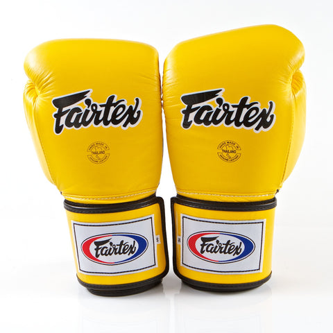 Pro Sparring Boxing Gloves - Yellow/Black