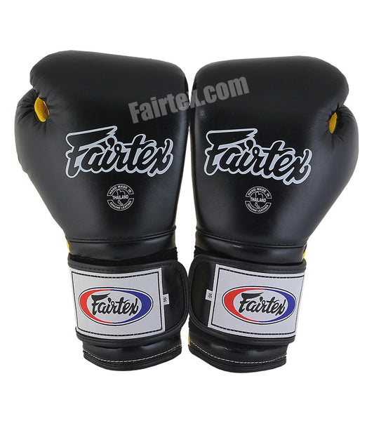 Mexican Style Boxing Gloves - Black/Yellow