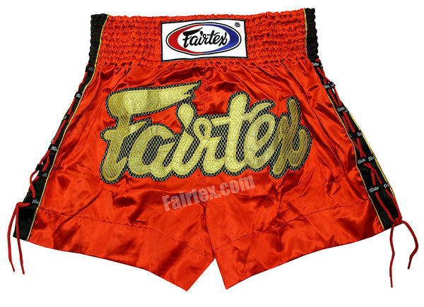 Fairtex Red Lace Muay Thai Shorts BS0602