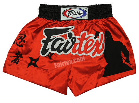 Fairtex Shorts Limited Collection The Assassin Red BS0638