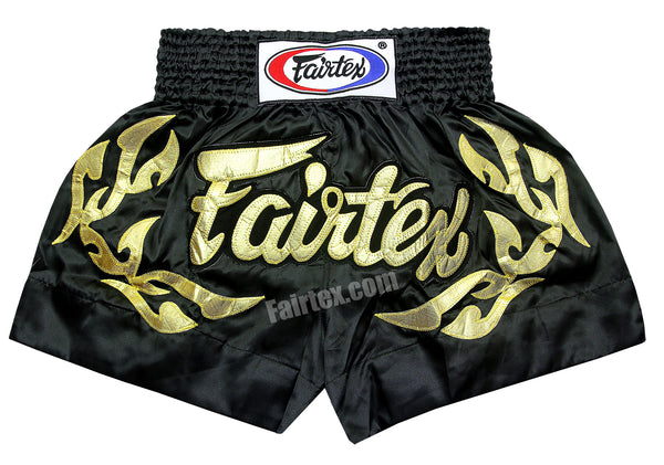Fairtex Shorts Limited Collection Eternal Flame Gold Black BS0646