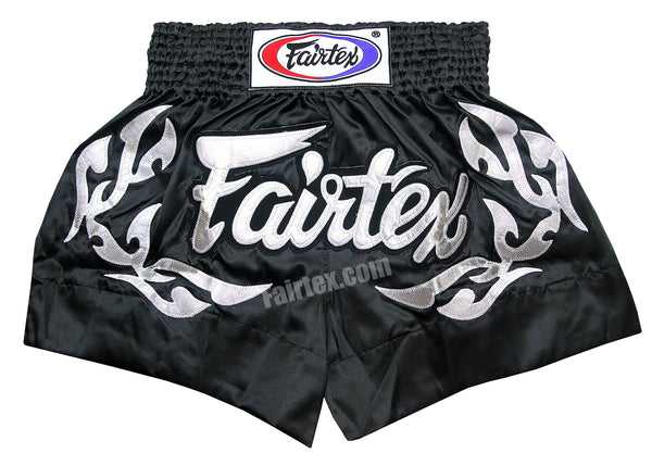 Fairtex Shorts Limited Collection Eternal Flame Silver Black BS0647