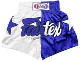 Fairtex Shorts Limited Collection Patriot White/Blue BS111