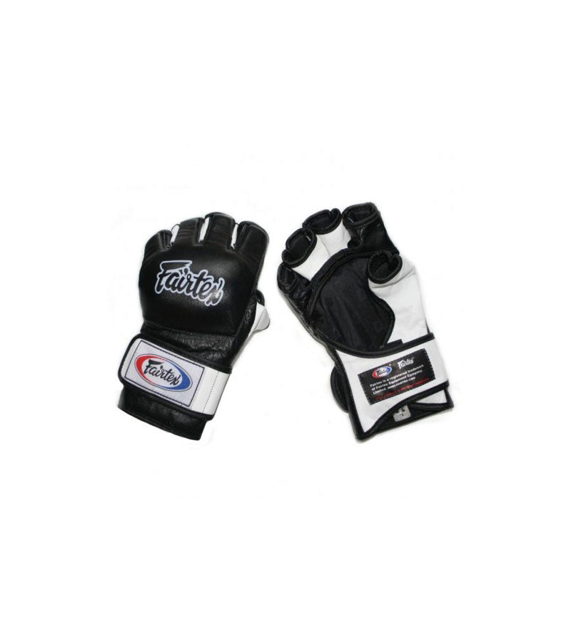 FGV13 MMA Gloves Open Thumb Black White