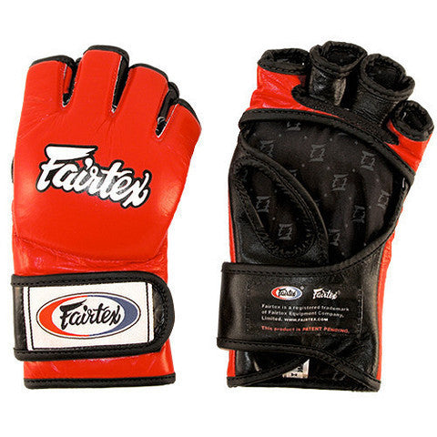 MMA Gloves Open Thumb - Red/Black