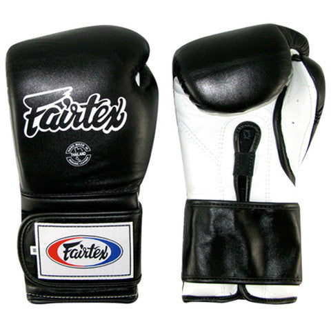 Mexican Style Boxing Gloves - Black/White/White/Black