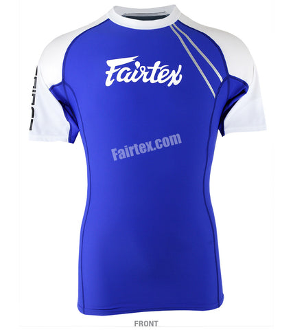 Fairtex Blue Short Sleeve Rash Guard