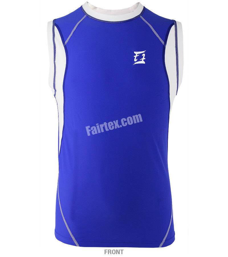 Fairtex Blue Sleeveless Rash Guard