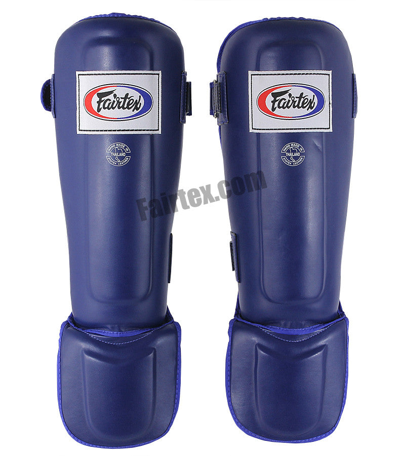 Fairtex Pro Style In-Step Double Padded Muay Thai Blue Shin Guards