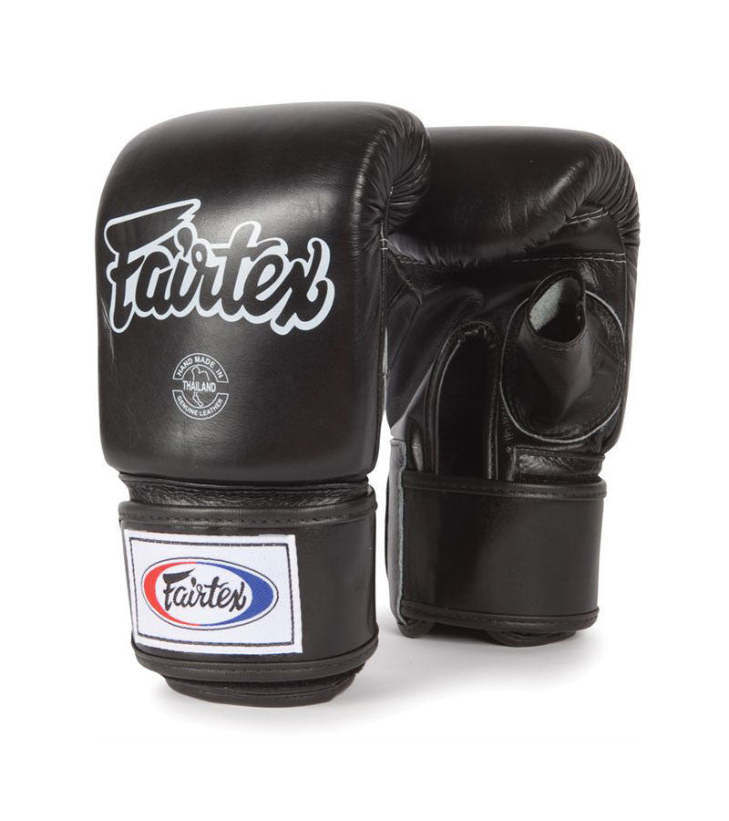 TGO3 Super Sparring Bag Gloves Open Thumb Black
