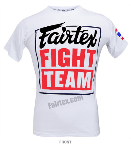 Fairtex Fight Team White T Shirt Red Body