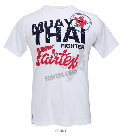 Fairtex Muay Thai Fighter White T Shirt