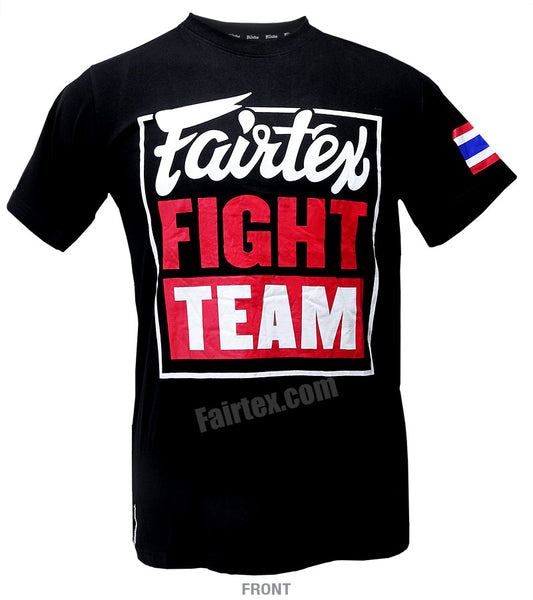 Fairtex Fight Team Black T Shirt Red Body TST51