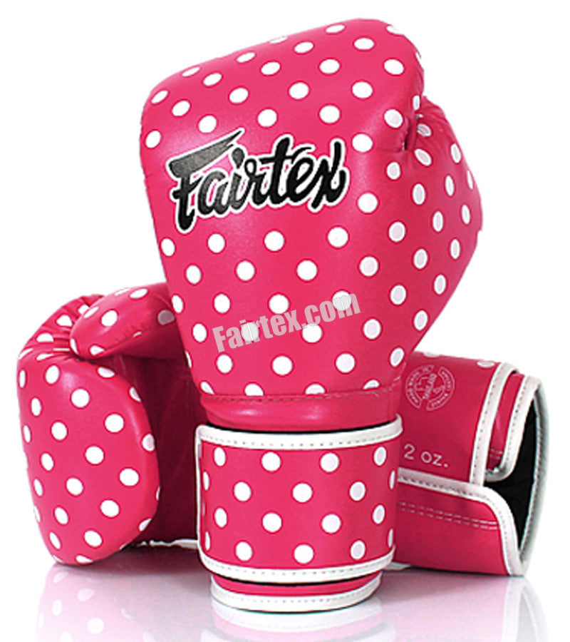 Fairfax Muay Thai Gloves Pink Polka Dot