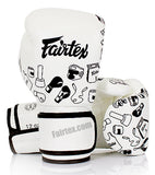 Fairfax Muay Thai Gloves White Street Art