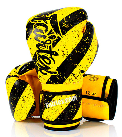 Fairfax Muay Thai Gloves Yellow Black