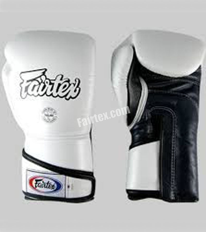 Angular Sparring Boxing Gloves - White/Black/Black