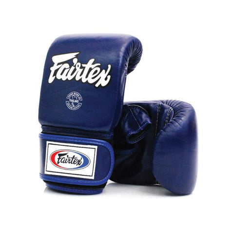Fairtex Muay Thai - Boxing Bag Gloves Open Thumb - Blue
