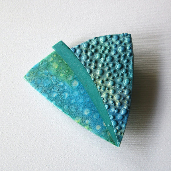 Water Droplet Textured Brooch/Pendant