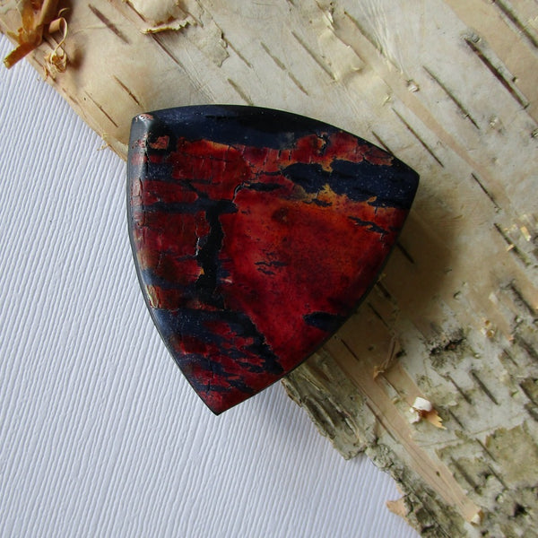 Red Crackle Brooch/Pendant